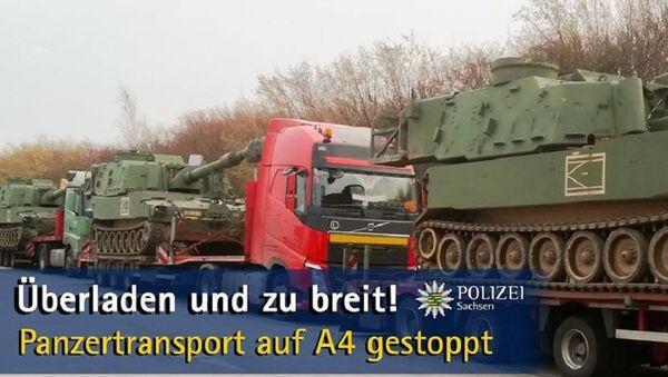 Polizei stoppt Panzertransport auf der A4 - Sputnik France