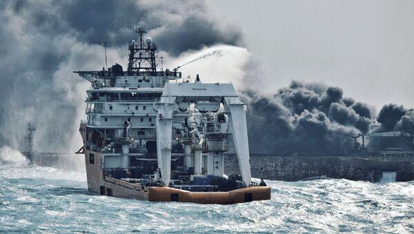 Naufrage du pétrolier iranien Sanchi - Sputnik France
