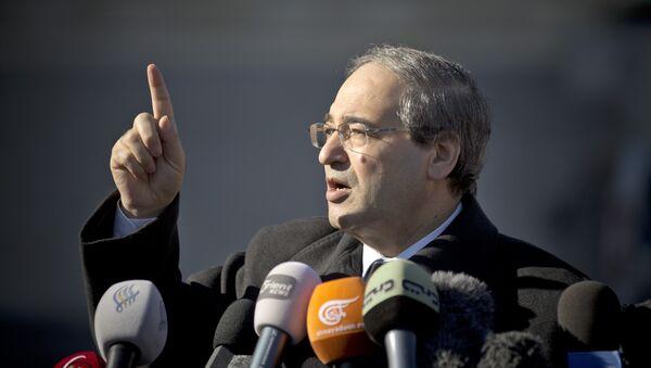 Le vice-ministre syrien des Affaires étrangères Faisal Mekdad - Sputnik France