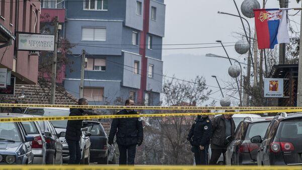 Место на ком је убијен Оливер Ивановић у Косовској Митровици. - Sputnik France