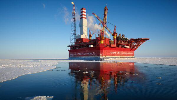 La plate-forme russe Prirazlomnaya en Arctique - Sputnik France