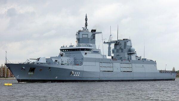 Not yet commissioned frigate Baden-Württemberg at the deperming range in Wilhelmshaven. - Sputnik France