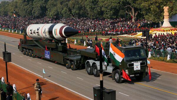 The long range ballistic Agni-V missile is displayed during Republic Day parade, in New Delhi, India. - Sputnik France