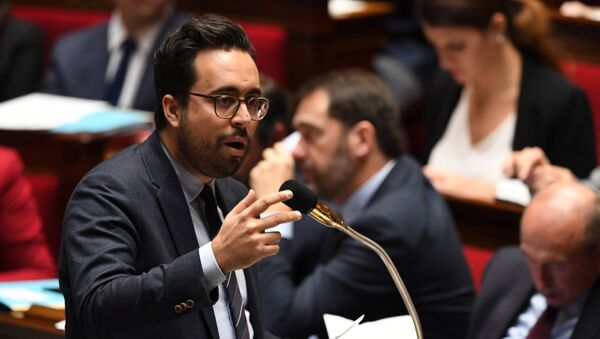 French Junior Minister for the Digital Sector Mounir Mahjoubi speaks during a session of questions to the government, on December 20, 2017 at the French National Assembly in Paris. - Sputnik France