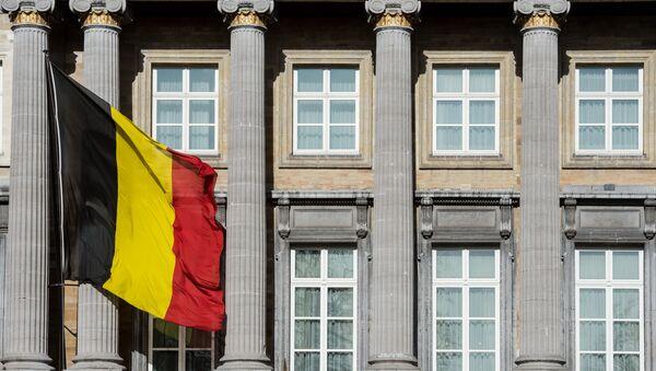 The Belgian flag flies outside the Belgian federal parliament in Brussels. (File) - Sputnik France