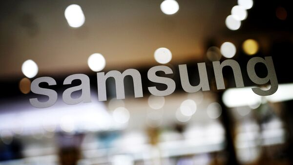 The logo of Samsung Electronic is seen at its headquarters in Seoul, South Korea, in this file photo taken on April 4, 2016.  - Sputnik France