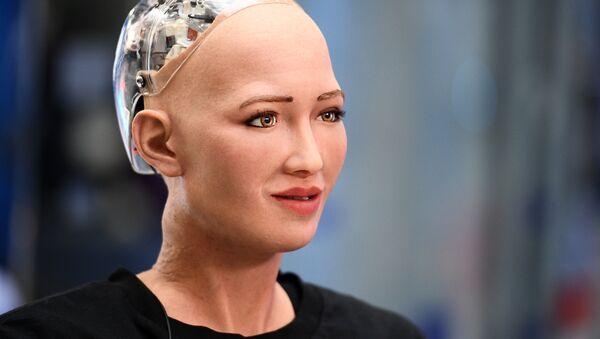 La robot-femme humanoïde Sophia  - Sputnik France