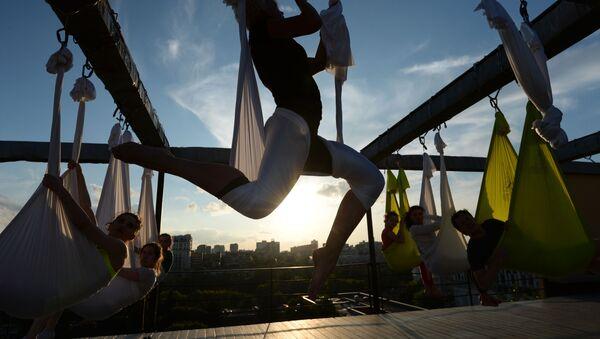 Проект Фитнес на крыше на крыше Дома Наркомфина в Москве - Sputnik France