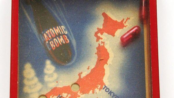 Vintage Nuke Japan Toy Puzzle by the A.C. Gilbert Co., Nagasaki and Hiroshima - Sputnik France