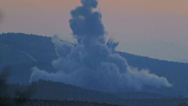 Турецкие самолеты начали операцию Оливковая ветвь против сирийского курдского анклава Африн, на северо-западе Сирии. 20 января 2018 - Sputnik France