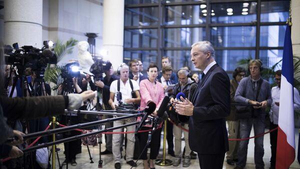Le Ministre de l'économie Bruno Le Maire lors d'une conférence de presse à Bercy  - Sputnik France