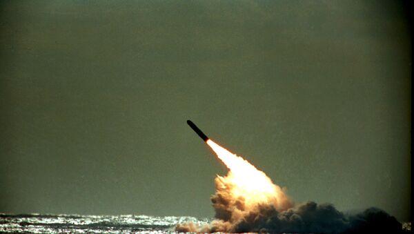 Tir d'un missile américain Trident II (photo d'archives) - Sputnik France