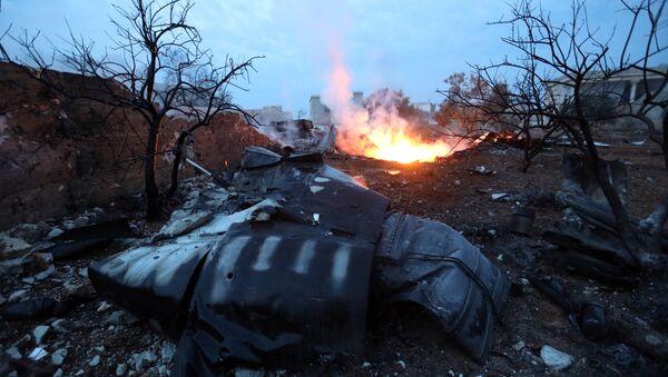 Le lieu de crash du Su-25 abattu en Syrie le 3 février 2017 - Sputnik France