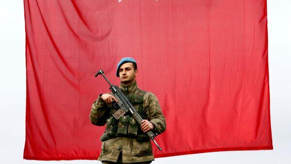 Un militaire turc, image d'illustration - Sputnik France