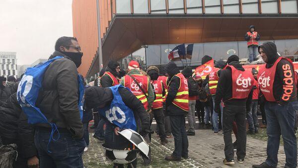 Manifestation devant la Direction de l'Administration pénitentiaire (DAP) à Paris, 5 février 2018 - Sputnik France