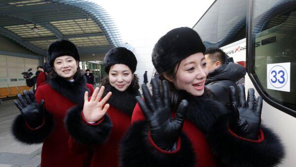 Des pom-pom girls nord-coréennes en Corée du Sud - Sputnik France