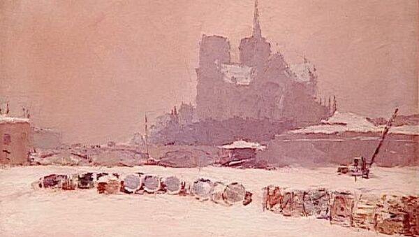La Notre Dame, neige, ca.1895 - Sputnik France
