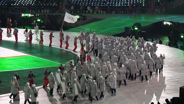 Les sportifs russes défilent à Pyeongchang sous la bannière olympique - Sputnik France