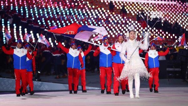 Les athlètes serbes - Sputnik France