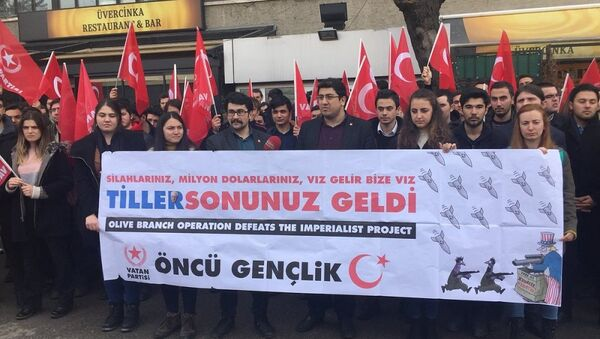 Une manifestation contre la visite de Rex Tillerson à Ankara - Sputnik France