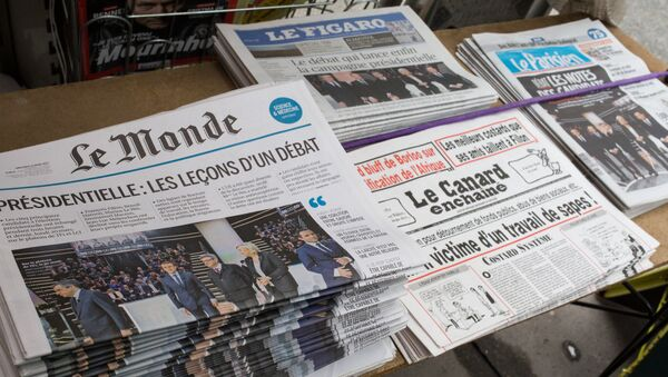 Первые полосы газет, посвященных президентским дебатам во Франции - Sputnik France