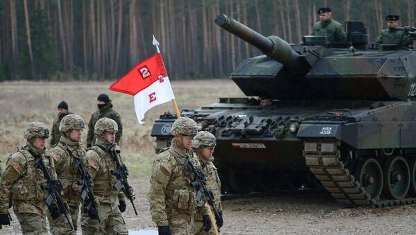 Uroczystość powitania wielonarodowego batalionu NATO pod przywództwem Stanów Zjednoczonych w Polsce - Sputnik France