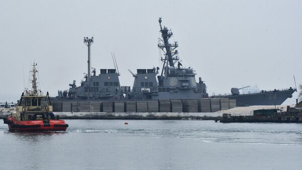 Le destroyer américain Carney - Sputnik France