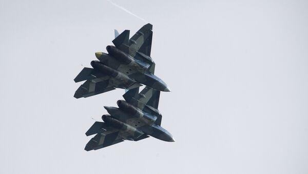 Des chasseurs russes de 5e génération Su-57 - Sputnik France