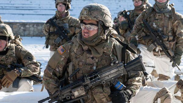 Des militaires américains lors des exercices de l'Otan en Lettonie - Sputnik France