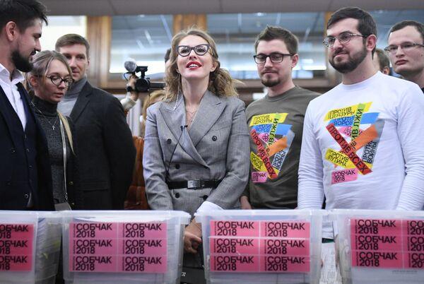 Сandidate à la présidentielle 2018 en Russie: Ksénia Sobtchak - Sputnik France