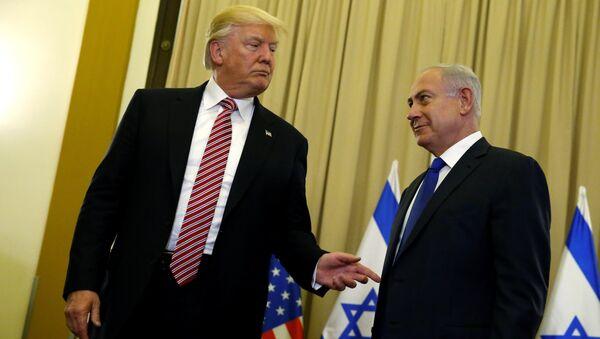 Le Président américain Donald Trump et le Premier ministre israélien Benjamin Netanyahou - Sputnik France