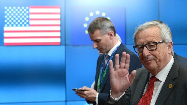 Президент США Дональд Трамп встретился с лидерами ЕС в Брюсселе - Sputnik France