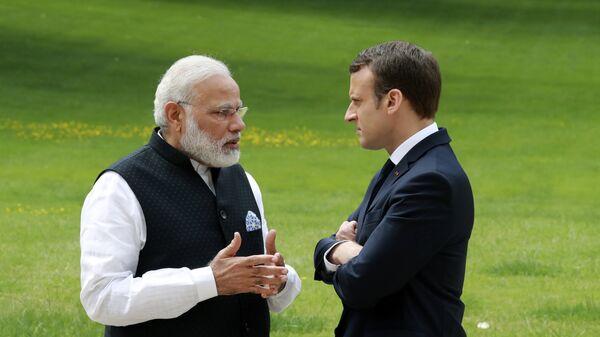 Emmanuel Macron et Narendra Modi. Photo d'archive - Sputnik France