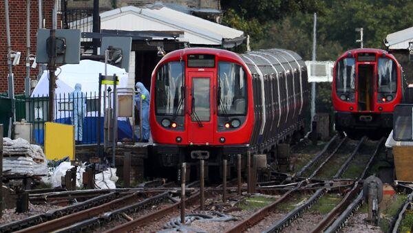 La station de métro Parsons Green à Londres après l'attentat du 15 septembre 2017 - Sputnik France