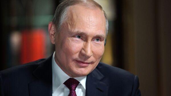 Президент РФ В. Путин дал интервью телеканалу Эн-би-си - Sputnik France