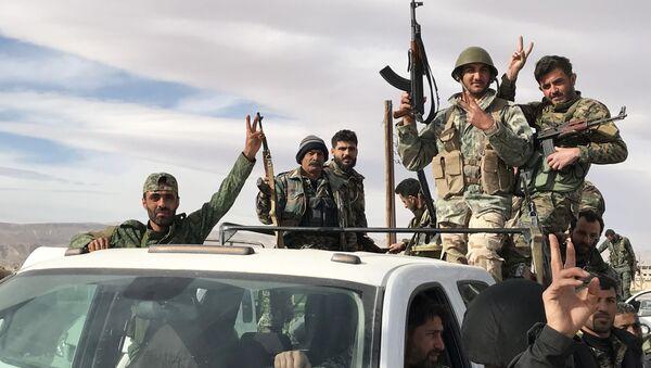 Des militaires syriens dans la Ghouta orientale - Sputnik France