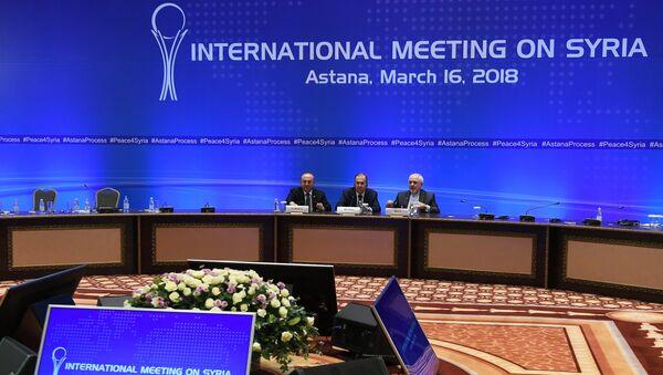 Встреча глав МИД стран-гарантов перемирия в Сирии - Sputnik France