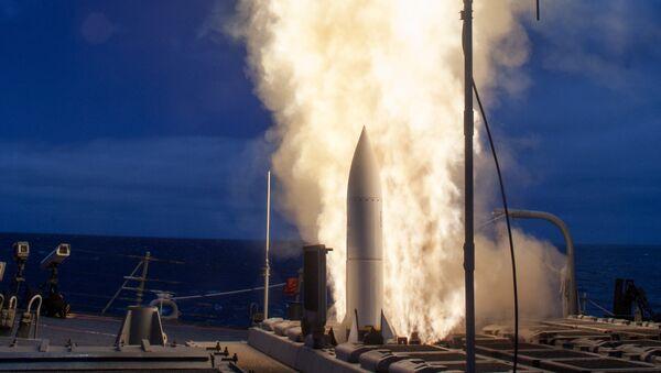 Un essai du système antimissile américain Aegis - Sputnik France