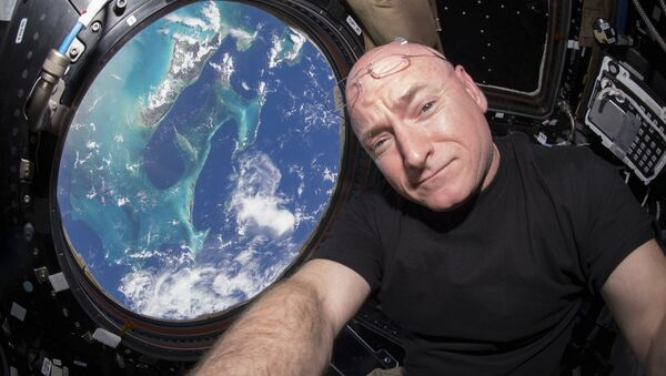 L'astronaute Scott Kelly à l'intérieur de la Station spatiale internationale. - Sputnik France