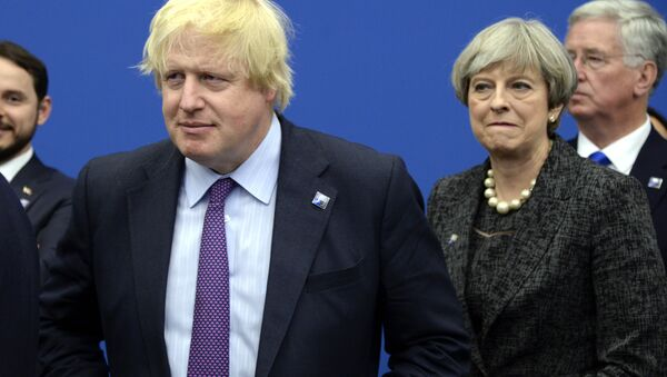 Boris Johnson et Theresa May - Sputnik France