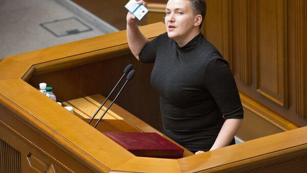 La députée ukrainienne Savtchenko avant son arrestation - Sputnik France