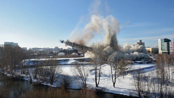 Снос недостроенной телебашни в Екатеринбурге - Sputnik France