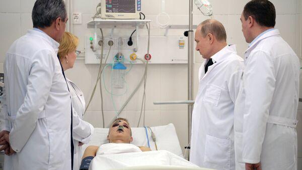 Vladimir Poutine en visite à Kemerovo - Sputnik France