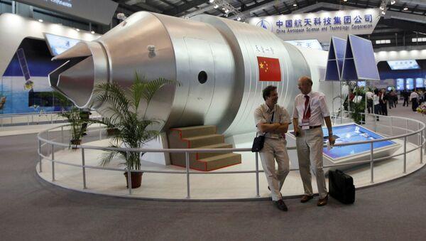 Une maquette de la station spatiale chinoise Tiangong 1 - Sputnik France