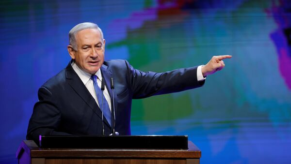 Israeli Prime Minister Benjamin Netanyahu gestures as he addresses a health conference in Tel Aviv, Israel - Sputnik France