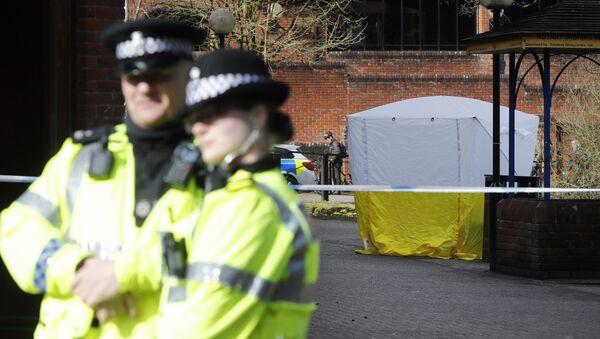 La police britannique à Salisbury - Sputnik France