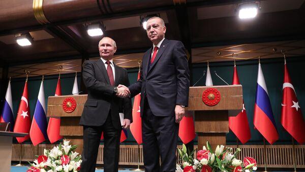 Визит президента РФ В. Путина в Турцию - Sputnik France