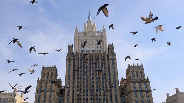 Здание министерства иностранных дел РФ на Смоленской-Сенной площади в Москве. - Sputnik France