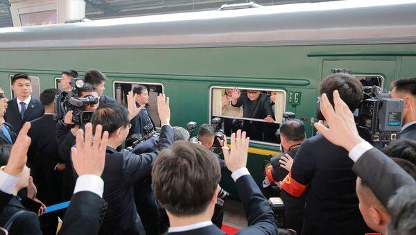 Kim Jong-un en visite à Pékin - Sputnik France