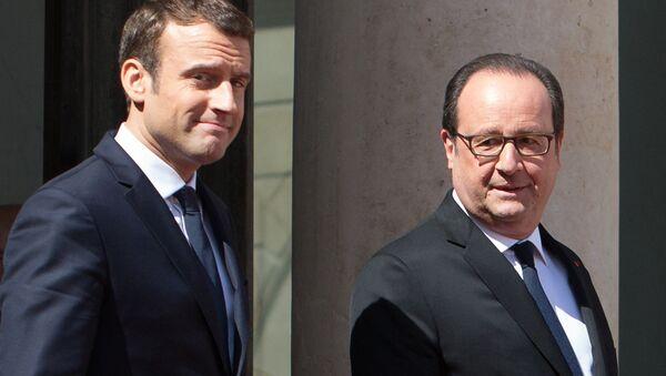Hollande et Macron - Sputnik France
